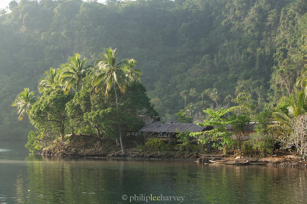 Waterside village on the Fjord, Tufi, Cape Nelson, Oro Province, Papua New Guinea