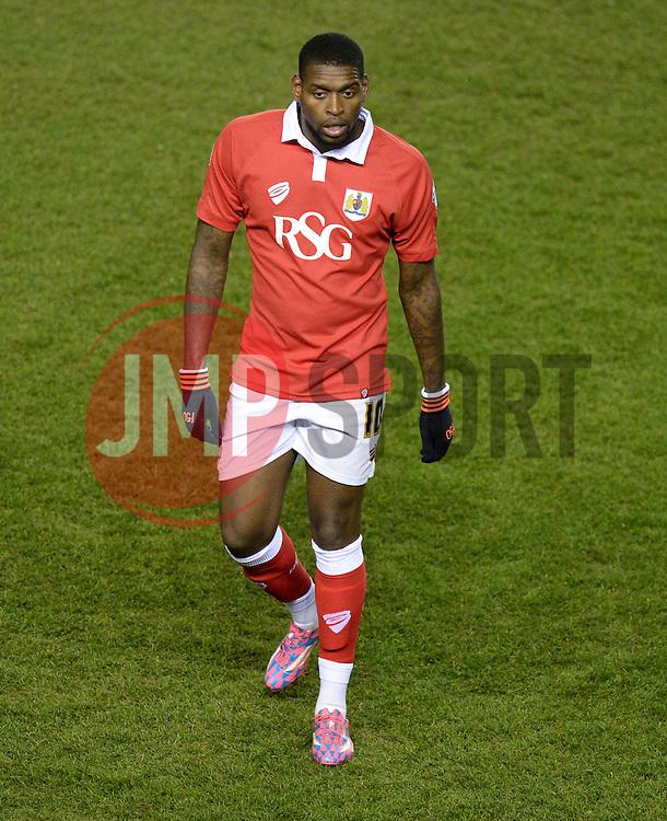 Bristol City's Jay Emmanuel-Thomas - Photo mandatory by-line: Alex James/JMP - Mobile: 07966 386802 - 29/01/2015 - SPORT - Football - Bristol - Ashton Gate - Bristol City v Gillingham - Johnstone Paint Trophy Southern area final