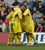 Photo: Steve Bond/Richard Lane Photography. <br />Nottingham Forest v Walsall. Coca Cola League One. 15/03/2008. Tommy Mooney (obscured) is congratulated