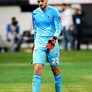 Fenerbahce's goalkeeper Mert Gunok during their Turkish Super League soccer match Akhisar Belediye Genclik Spor between Fenerbahce at the 19 Mayis Stadium in Manisa Turkey on Sunday, 28 September 2014. Photo by TURKPIX