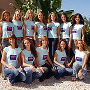Miss Nederland 2003 reis Turkije, groepsfoto alle missen