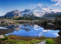 Mt. Baker Wilderness Area, Reflection, Easton Glacier, Mt. Baker; Park Butte; Railroad Grade; South Side; North Cascades; Washington State