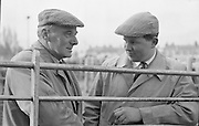 Dublin Cattle Market. Lewis Evans (left), Delgany, Co. Wicklow, and Roy Meredith, Rosenallis, Co. Laois..25.04.1962