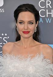 Angelina Jolie at The 23rd Annual Critics' Choice Awards held at the Barker Hangar on January 11, 2018 in Santa Monica, CA, USA (Photo by Sthanlee B. Mirador/Sipa USA)