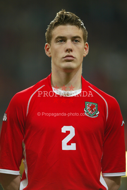 CARDIFF, WALES - Wednesday, February 18, 2004: Wales' Rob Edwards pictured before the international friendly match against Scotland at the Millennium Stadium. (Pic by David Rawcliffe/Propaganda)