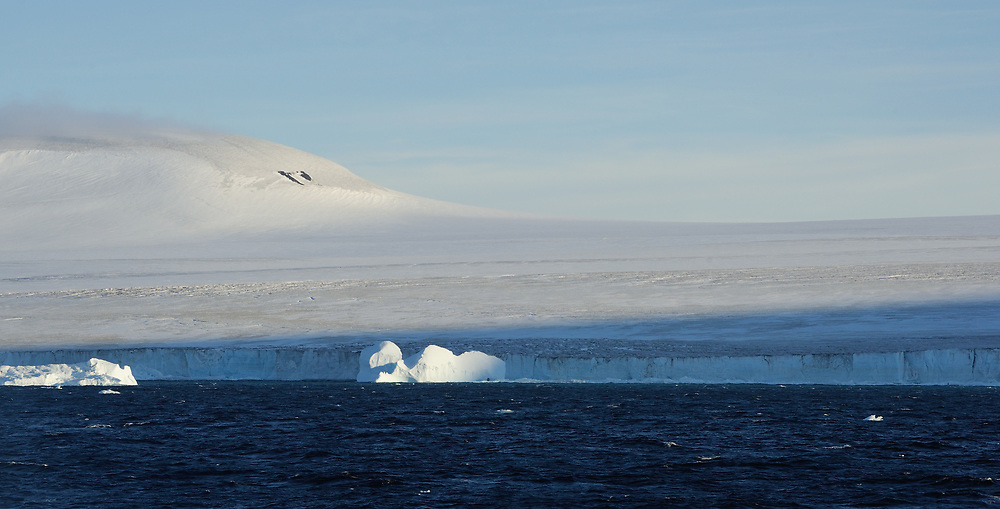 The icecap of the Antarctic Peninsula comes down to the Antarctic Sound between Hope Bay and Brown Bluff on the northernmost point of the Antarctic Peninsula. Antarctic Peninsula, Antarctica. 01Mar16
