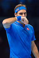 Roger Federer of Switzerland during the Nitto ATP World Tour Finals at the O2 Arena, London, United Kingdom on 13 November 2018.Photo by Martin Cole