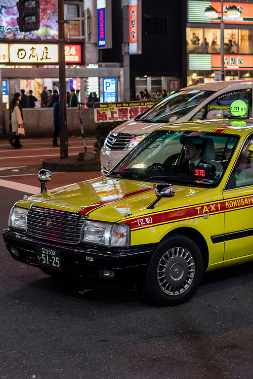 Typical Tokyo taxi.