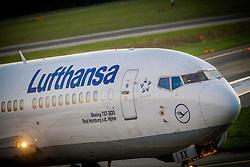 THEMENBILD - Ein Boeing 737-300 der Lufthansa am 21. Oktober 2013 am Flughafen Graz Thalerhof // THEMES PICTURE - a BOEING 737-300 from the Lufthansa on 21 October 2013. EXPA Pictures © 2013, PhotoCredit: EXPA/ Erwin Scheriau