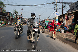 Grant Peterson on day-9 of our Himalayan Heroes adventure riding from Pokhara to Nuwakot, Nepal. Wednesday, November 14, 2018. Photography ©2018 Michael Lichter.