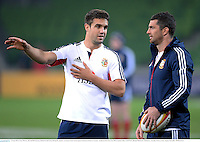 24 June 2013; Conor Murray, left, and Rob Kearney, British & Irish Lions, during the captain's run ahead of their match against Melbourne Rebels on Tuesday. British & Irish Lions Tour 2013, Captain's Run, AAMI Park, Olympic Boulevard, Melbourne, Australia. Picture credit: Stephen McCarthy / SPORTSFILE