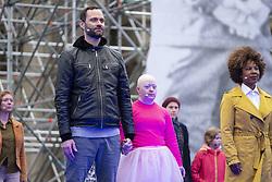 October 2, 2018 - Berlin, Germany - Gorki theater rehearsal before ''Tag der deutsche Einheit'' director Marta Górnicka (Credit Image: © Beata Siewicz/Pacific Press via ZUMA Wire)