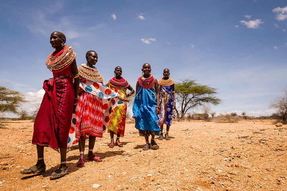 Samburu women attend a workshop on holistic land management, which aims to improve crop yields and protect habitat for wildlife.