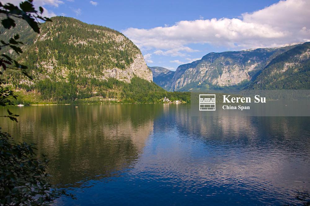 Landscape of Hallstatter Lake, Hallstatt, Austria