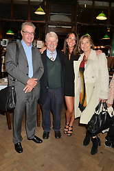 Left to right, JONATHAN LLOYD, STANLEY JOHNSON, ALEX PAKENHAM and EVE WIGHT at a party to celebrate the publication of Stanley I Resume by Stanley Johnson at the Daunt Bookshop, Marylebone High Street, London on 23rd September 2014.
