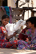 Happy Indian children in typical Rajasthani village of Nimaj, Rajasthan, Northern India