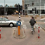 Fiets oversteekplaats Graaf Wichmanlaan Huizen