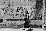 Graffiti of the Zapatista Army of National Liberation (EZLN) in San Cristóbal de las Casas, Chiapas, Mexico. March / 2006.<br /> <br /> (Original photograph on 35mm film, copied to paper and scanned to digital)