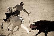 Rejoneador in the bullring at Ste Maries-de-la-Mer