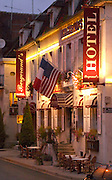 The Hotel Bergerand's in the village of Chablis, Bourgogne