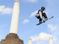 29.10.2011, Battersea Power Station, London GBR, FIS Snowboard Worldcup, Relentless Freeze Festival, im Bild FIS World Cup 2012 Heat 1,Mathias WEISSENBACHER of AUT // during FIS Snowboard Worldcup at Relentless Freeze Festival in London, United Kingdom on 29/10/2011. EXPA Pictures © 2011, PhotoCredit: EXPA/ TNT Sports/ Nick Tapsell +++++ ATTENTION - OUT OF ENGLAND/GBR +++++