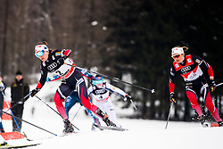January 6, 2018 - Val Di Fiemme, ITALY - 180106 Heidi Weng of Norway and Ingvild Flugstad ¯stberg of Norway compete in women's 10km mass start classic technique during Tour de Ski on January 6, 2018 in Val di Fiemme..Photo: Jon Olav Nesvold / BILDBYRN / kod JE / 160122 (Credit Image: © Jon Olav Nesvold/Bildbyran via ZUMA Wire)