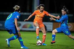 Renate Jansen of Nederland  and Špela Kolbl of Slovenia during football match between Slovenia and Nederland in qualifying Round of Woman's qualifying for EURO 2021, on October 5, 2019 in Mestni stadion Fazanerija, Murska Sobota, Slovenia. Photo by Blaž Weindorfer / Sportida