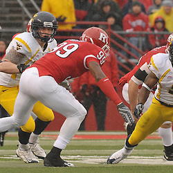 Dec 5, 2009; Piscataway, NJ, USA; West Virginia wide receiver Jock Sanders (9) returns a punt during first half NCAA Big East college football action between Rutgers and West Virginia at Rutgers Stadium.