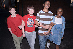 Group of teenagers in the street,