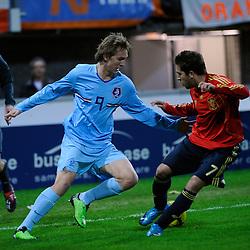 17-11-2009 VOETBAL: JONG ORANJE - JONG SPANJE: ROTTERDAM<br /> Nederland wint met 2-1 van Spanje / Luuk de Jong<br /> ©2009-WWW.FOTOHOOGENDOORN.NL