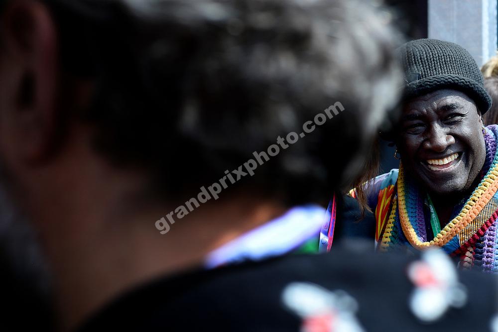 Moko (jewerly designer) before the 2019 Monaco Grand Prix. Photo: Grand Prix Photo