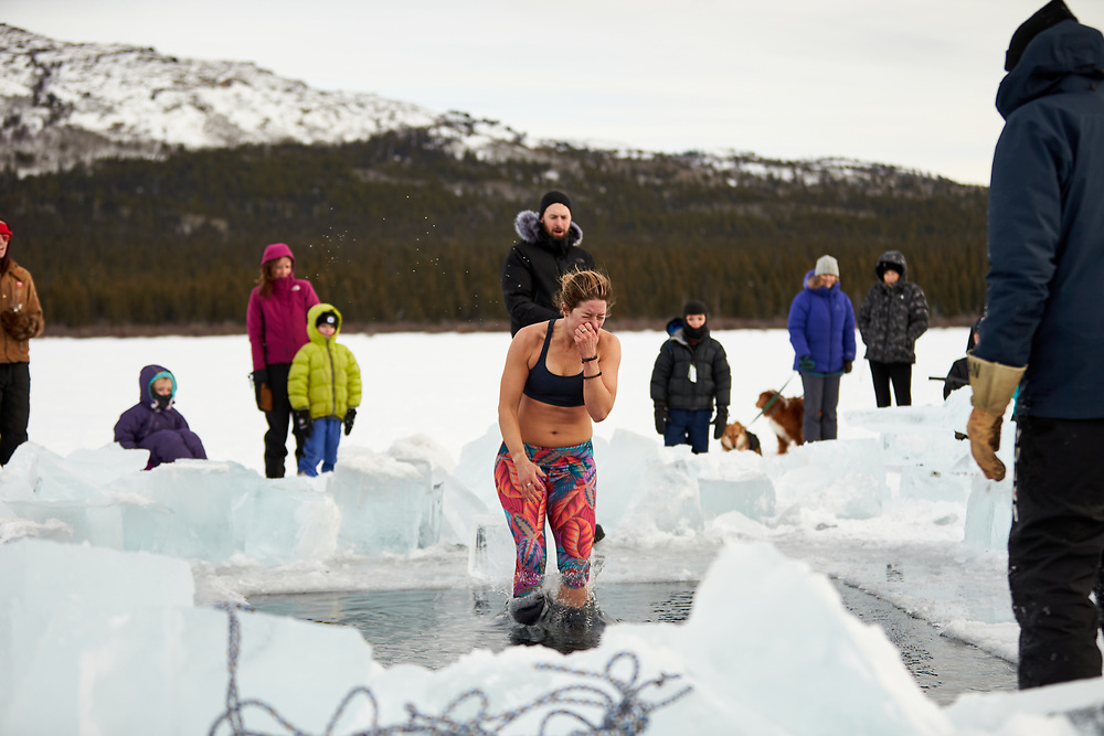 2020 ICEMAN Polar Plunge. Organized by Run For Life, this annual event raises money to support clean water initiatives in Kenya's Rift Valley.