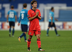 September 28, 2017 - Saint Petersburg, Russia - lvaro Odriozola of FC Real Sociedad reacts after the UEFA Europa League Group L football match between FC Zenit Saint Petersburg and FC Real Sociedad at Saint Petersburg Stadium on September 28, 2017 in St.Petersburg, Russia. (Credit Image: © Igor Russak/NurPhoto via ZUMA Press)