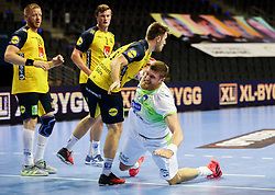 Blaz Blagotinsek of Slovenia during handball match between National Teams of Sweden and Slovenia at Day 3 of IHF Men's Tokyo Olympic  Qualification tournament, on March 14, 2021 in Max-Schmeling-Halle, Berlin, Germany. Photo by Vid Ponikvar / Sportida