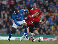 Credit: Back Page Images. Birmingham City v Manchester United, FA Premiership, 16/10/2004. Dwight Yorke (Birmingham City) Roy Keane (Manchester United)