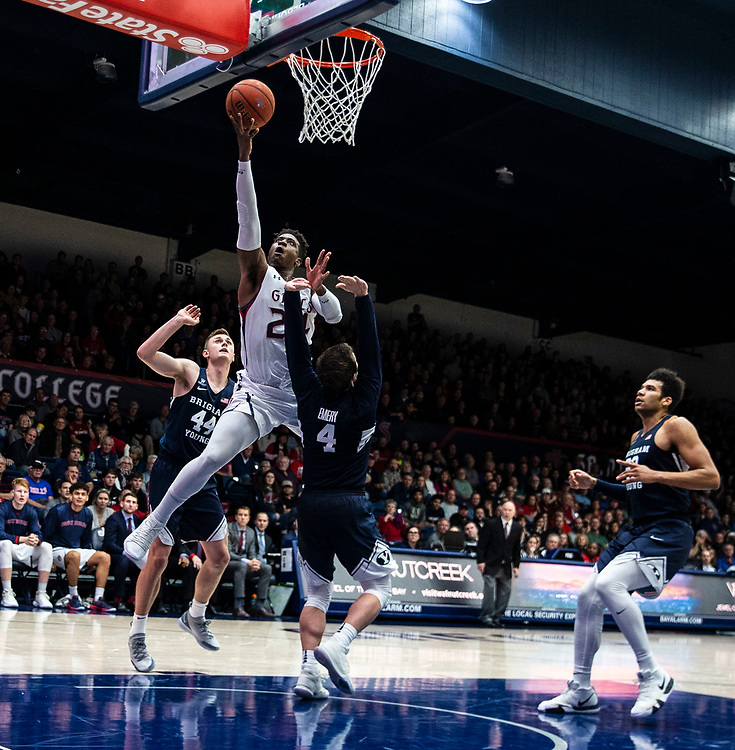 Jan 05, 2019 Moraga, CA  U.S.A.  St. Mary's forward Malik Fitts (24) drives to the basket during the NCAA Men's Basketball game between Brigham Young Cougars and the Saint Mary's Gaels 88-66 win at McKeon Pavilion Moraga Calif. Thurman James / CSM
