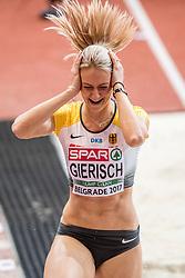 04-02-2017  SRB: European Athletics Championships indoor day 2, Belgrade<br /> Kristin Gierisch GER, triple jump