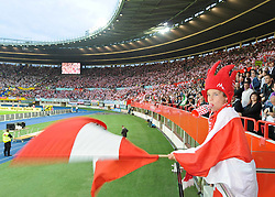 03.06.2011, Ernst Happel Stadion, Wien, AUT, UEFA EURO 2012, Qualifikation, Oesterreich (AUT) vs Deutschland (GER), im Bild Feature Oesterreichischer Fan // during the UEFA Euro 2012 Qualifier Game, Austria vs Germany, at Ernst Happel Stadium, Vienna, 2010-06-03, EXPA Pictures © 2011, PhotoCredit: EXPA/ M. Gruber