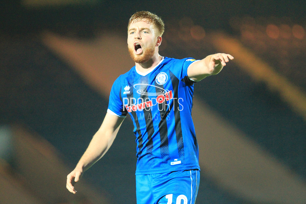 Callum Camps during the EFL Sky Bet League 1 match between Rochdale and Accrington Stanley at Spotland, Rochdale, England on 24 November 2018.