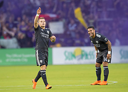 April 21, 2018 - Orlando, FL, U.S. - ORLANDO, FL - APRIL 21: Orlando City forward Chris Mueller (17) during the MLS soccer match between the Orlando City FC and the San Jose Earthquakes at Orlando City SC on April 21, 2018 at Orlando City Stadium in Orlando, FL. (Photo by Andrew Bershaw/Icon Sportswire) (Credit Image: © Andrew Bershaw/Icon SMI via ZUMA Press)