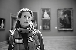 Educator Alice Schwarz for Connections in the European Painting Galleries, October 2010. © 2010 MMA, photographed by Jackie Neale Chadwick - Media_2010_129_0013_BW.tif