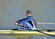 Boston, Great Britain. Men's Single Scull trial. GBR M1X. Sam TOWNSEND, 2013. GBRowing second assessment, Boston Rowing Club, River Witham, Lincolnshire.    Saturday  09/02/2013.   [Mandatory Credit. Peter Spurrier/Intersport Images]