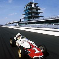 Buddy Rice drives AJ Foyt's 1961 Indy 500 winning roadster.<br /> ©2005 Phillip Abbott