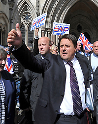CENTRAL LONDON. Nick Griffin leader of The British National Party outside the Royal Courts of Justice today after his case was adjourned.. 07 SEPT 2010. STEPHEN SIMPSON ..