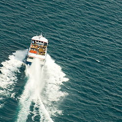 aerial view Star Line Mackinac Island's Hydro-Jet® Ferry