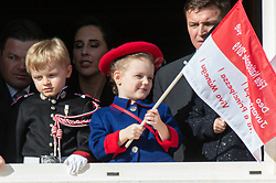 Princes Jacques, Princess Gabriella, Kaya-Rose Wittstock attending the military parade held in the Palace Square, during the National Day ceremonies, Monaco Ville (Principality of Monaco), on November 19, 2019. Photo by Marco Piovanotto/ABACAPRESS.COM