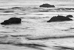 Pacific Ocean and sea stacks off Crescent Beach, Ecola State Park, Oregon, USA.