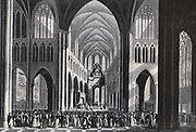 Te Deum service held for the inauguration of King Willem I of the Netherlands in Brussels1815. William I Frederick, born Willem Frederik Prins van Oranje-Nassau (24 August 1772 – 12 December 1843), was a Prince of Orange and the first King of the Netherlands and Grand Duke of Luxembourg.