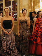 Xenia Gorbechev and Margherita Missoni. Crillon Debutantes Ball 2002. Paris. 7 December 2002. © Copyright Photograph by Dafydd Jones 66 Stockwell Park Rd. London SW9 0DA Tel 020 7733 0108 www.dafjones.com