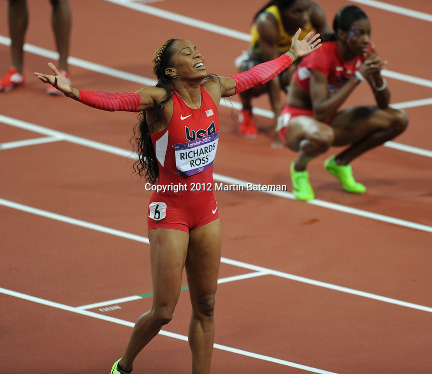 Sanya Richards-Ross wins gold in the women's 400m at Olympic Park, August 5th 2012